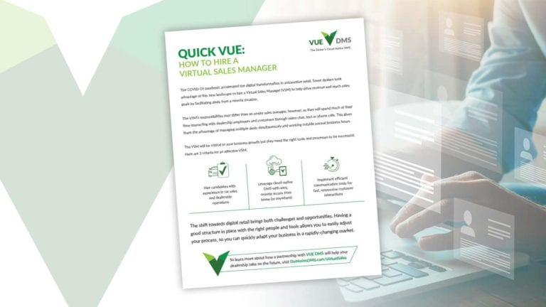 Virtual Sales Manager QuickVUE featured image